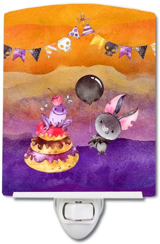 Caroline's Treasures BB7463CNL Halloween Sweets Party Ceramic Night Light, 6x4x3, Multicolor