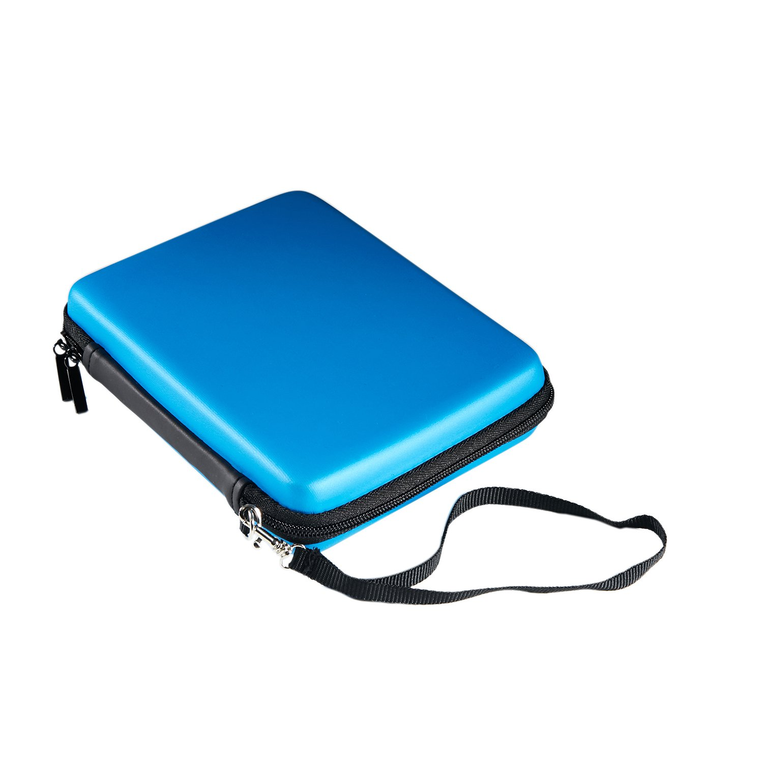 Kakaxi(TM) Double Compartment Travel Carrying Case Cover for Nintendo 2DS (Blue)