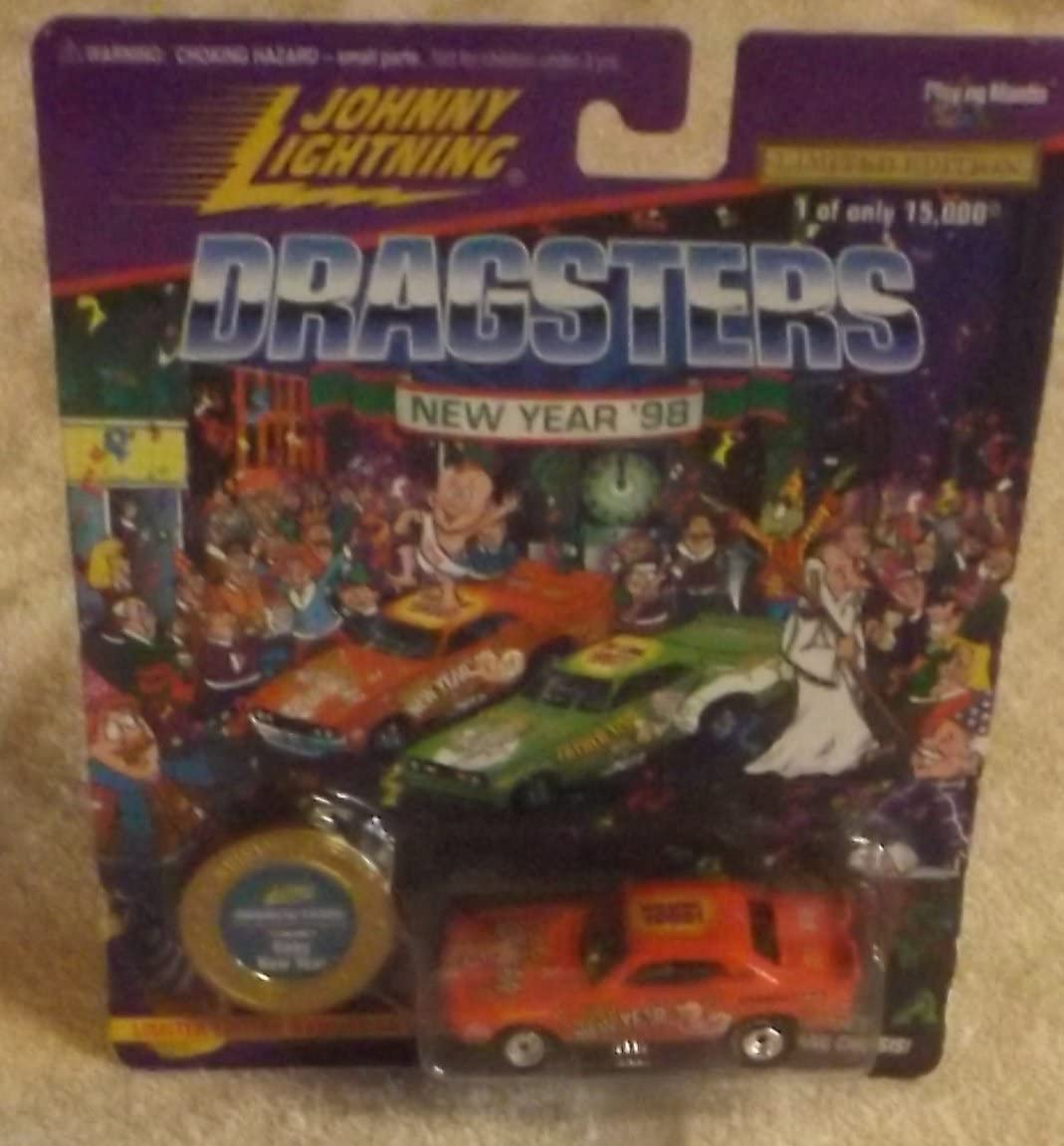 BABY NEW YEAR * RED * Johnny Lightning DRAGSTERS NEW YEAR '98 Limited Edition Die Cast Vehicle * 1 of only 15,000 *