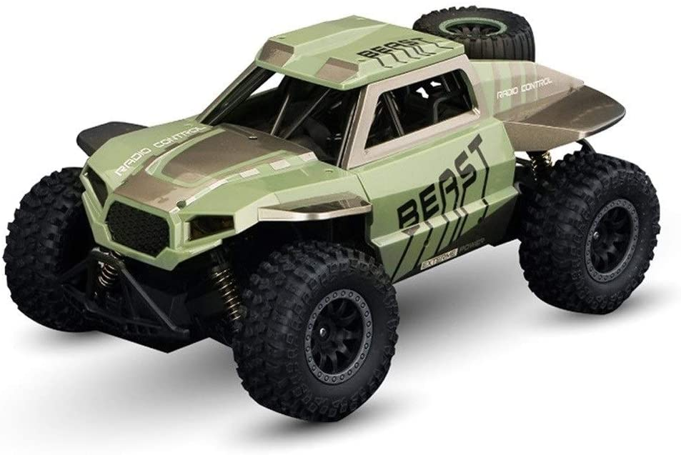 Xuess 2.4Ghz RC Cars, 4WD Radio Remote Control Buggy Off-Road Racing Monster Truck Off-Road and Sport Status,Children Gifts Kids Toy Educational Toys (Color : Green)