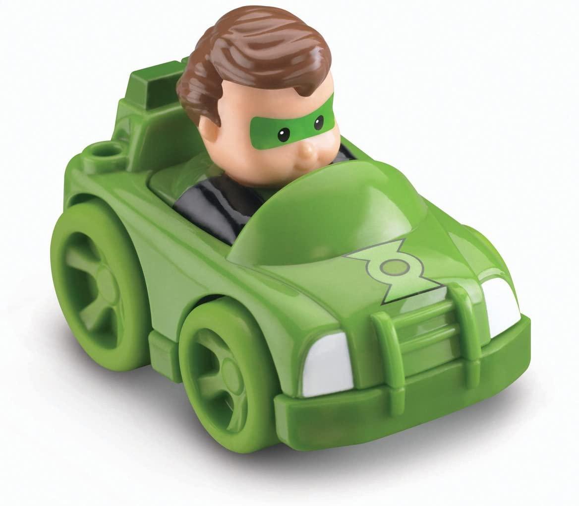 Fisher-Price Little People DC Super Friends Wheelies Vehicle, Green Lantern