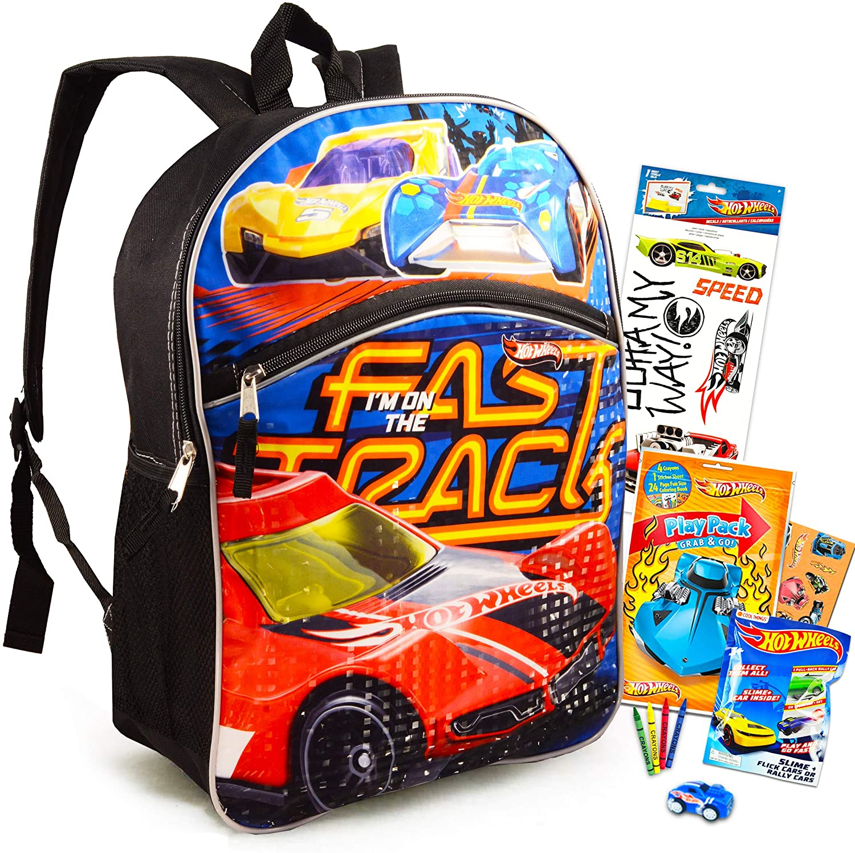 Toys Hot Wheels Backpack for Kids Activity Set Bundle ~ Deluxe 16