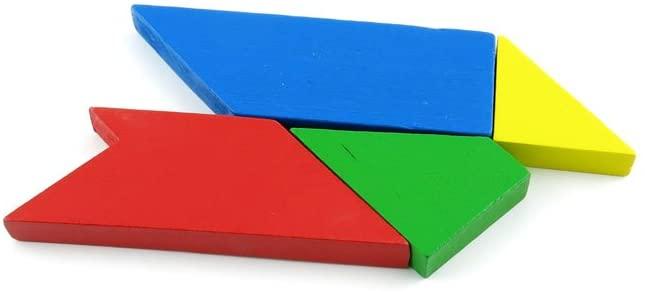 2 pcs Puzzle Game 05005 T Shape Four Tangram Sequential Puzzles Toys Jouets