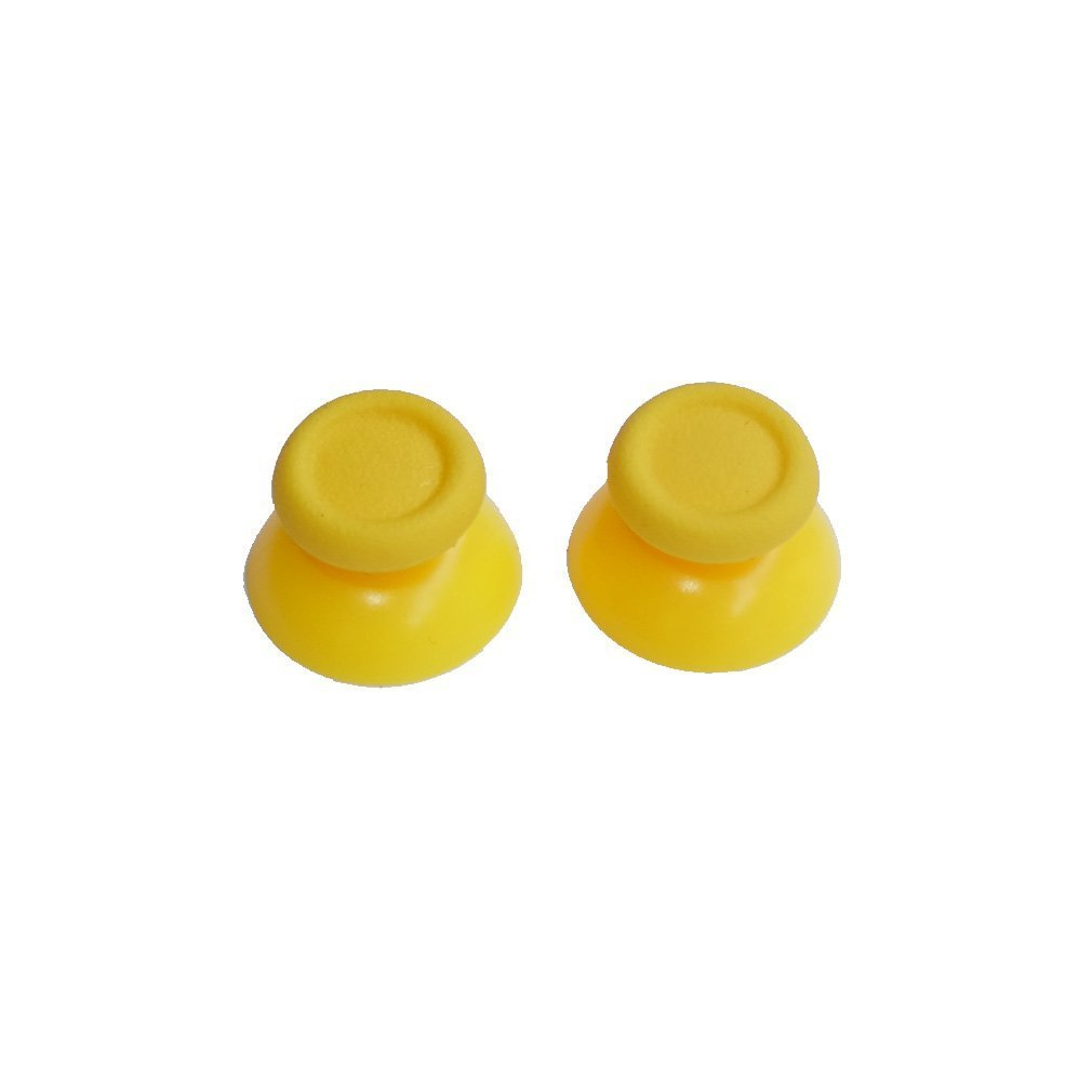 Mini Butterball 2 Pcs New Replacement Controller Analog Stick Joystick Thumbsticks for Playstation 4 PS4(Yellow)