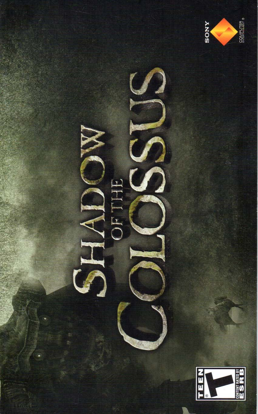 Shadow of the Colossus PS2 Instruction Booklet (PlayStation 2 Manual Only - NO GAME) [Pamphlet only - NO GAME INCLUDED] Play Station 2