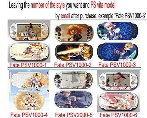 Custom Anime fate stay night Ps Vita1000 decal fate zero Psv1000 Design Decorative Protector Skin Decal Sticker & fate stay night Psv1000 Decal & fate stay night Ps Vita 1000 Sticker