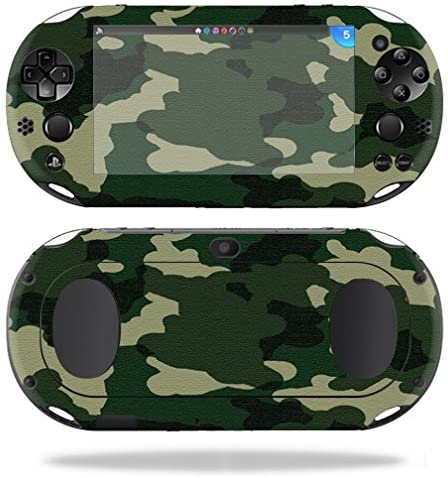 MightySkins Skin Compatible with Sony PS Vita (Wi-Fi 2nd Gen) wrap Cover Sticker Skins Green Camo