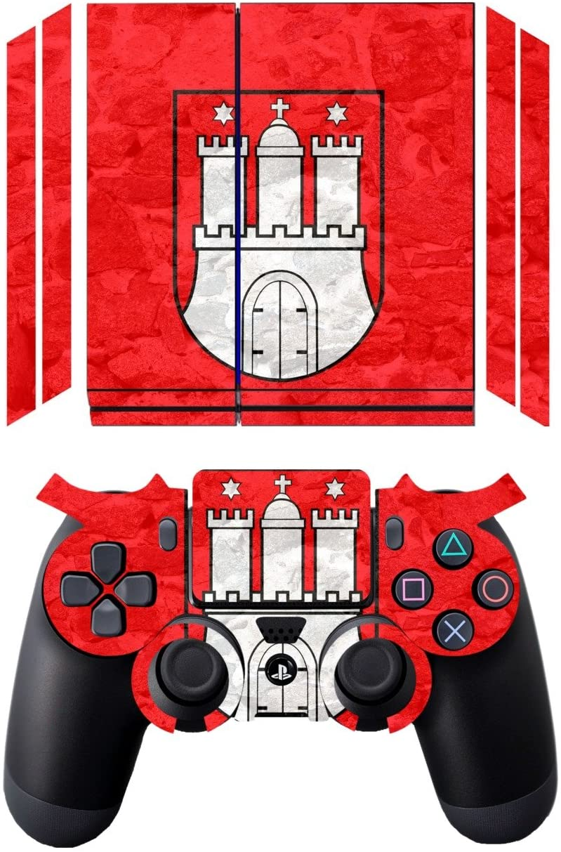 'Disagu Design Skin for Sony PS4 liegend + Controller Skin – Hamburg