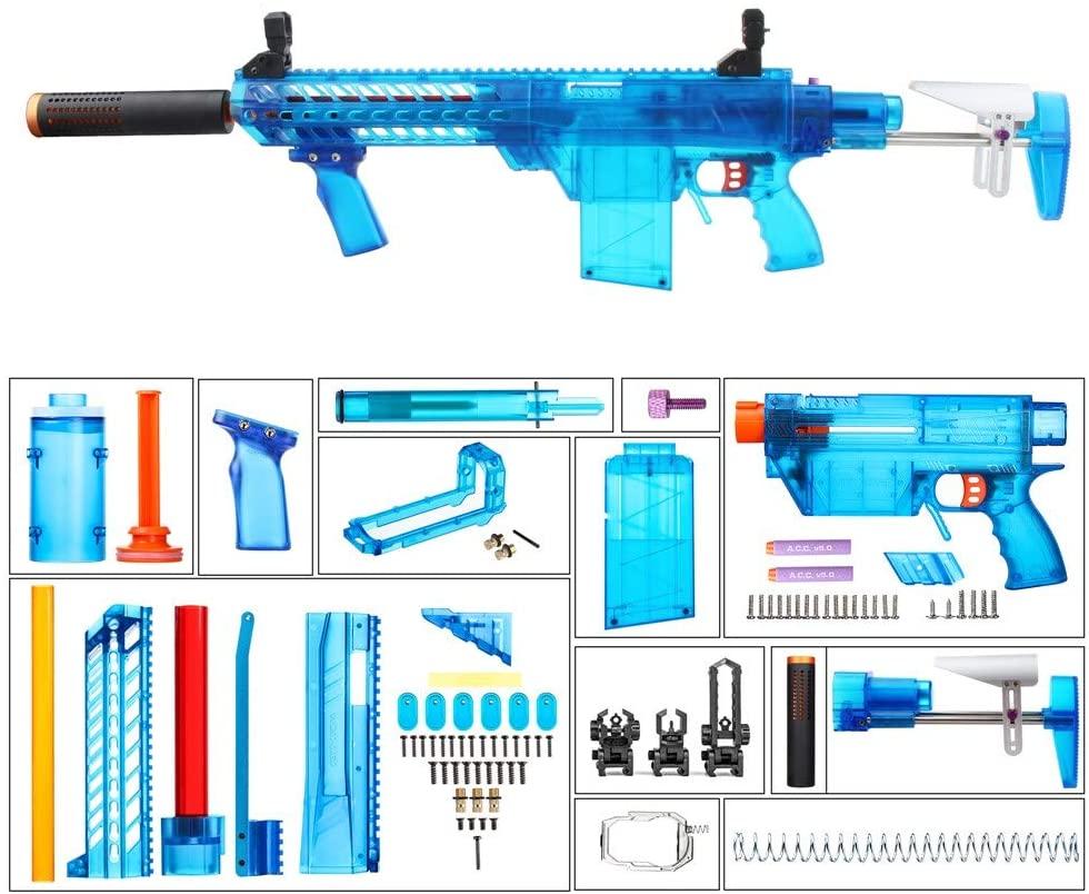 WORKER Prophecy MXC Long Dart A Pump Type DIY Kits(Blue Transparent)