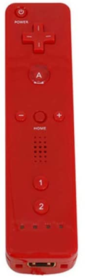 Aoile Leoie Remote Controller Game Handle for Wii (Without Silicone Sleeve and Hand Rope) red