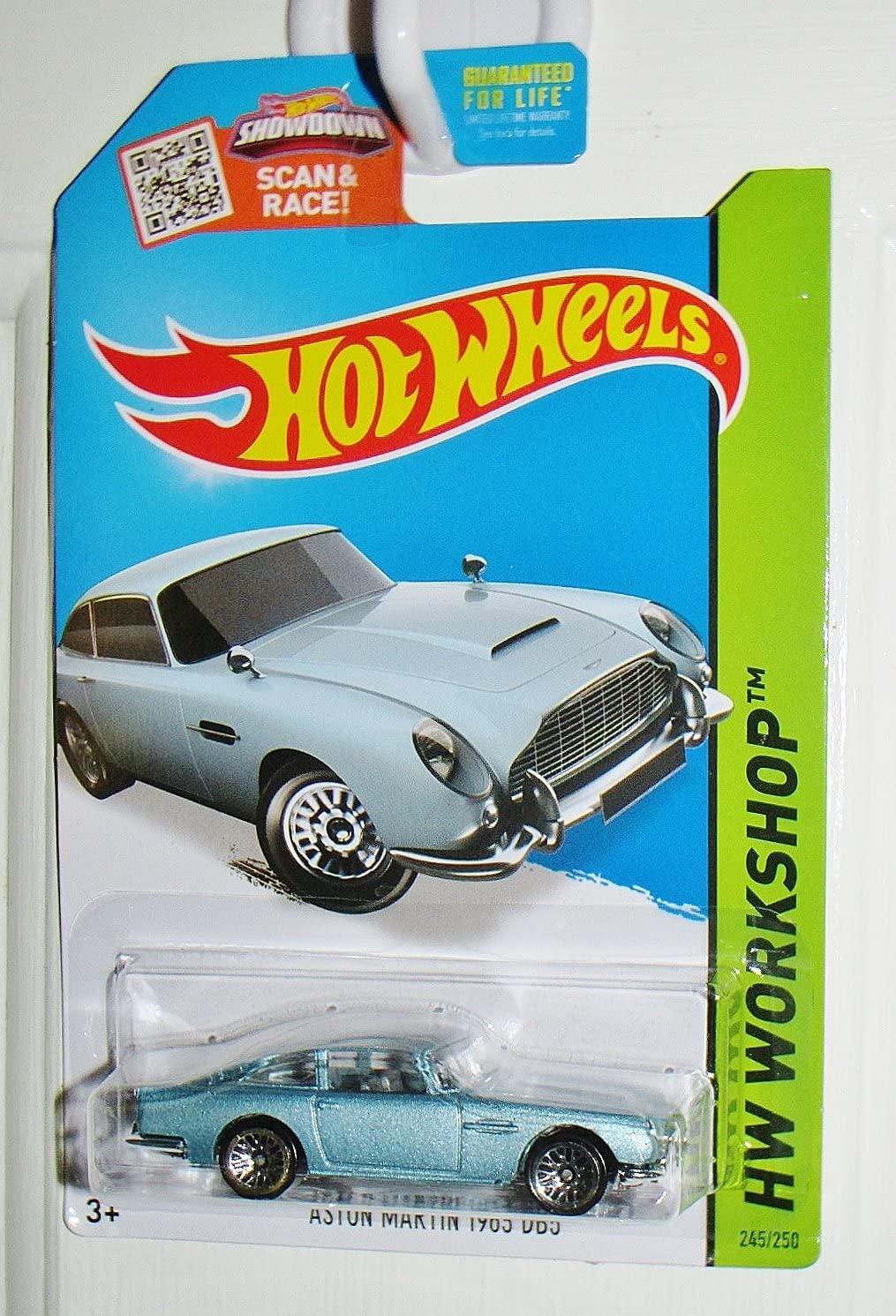 Hot Wheels, 2015 HW Workshop, Aston Martin 1963 DB5 Die-Cast Car [Blue/Gray] #245/250