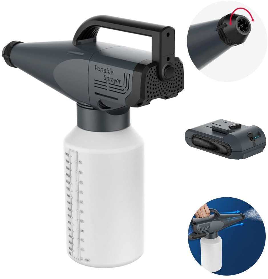LYDQ 1.8L Cordless Fogger Machine, ULV Sprayer Portable Cordless Electrostatic Handle Fogger Machine Sterilization Disinfection Handheld Electric Mist Sprayer