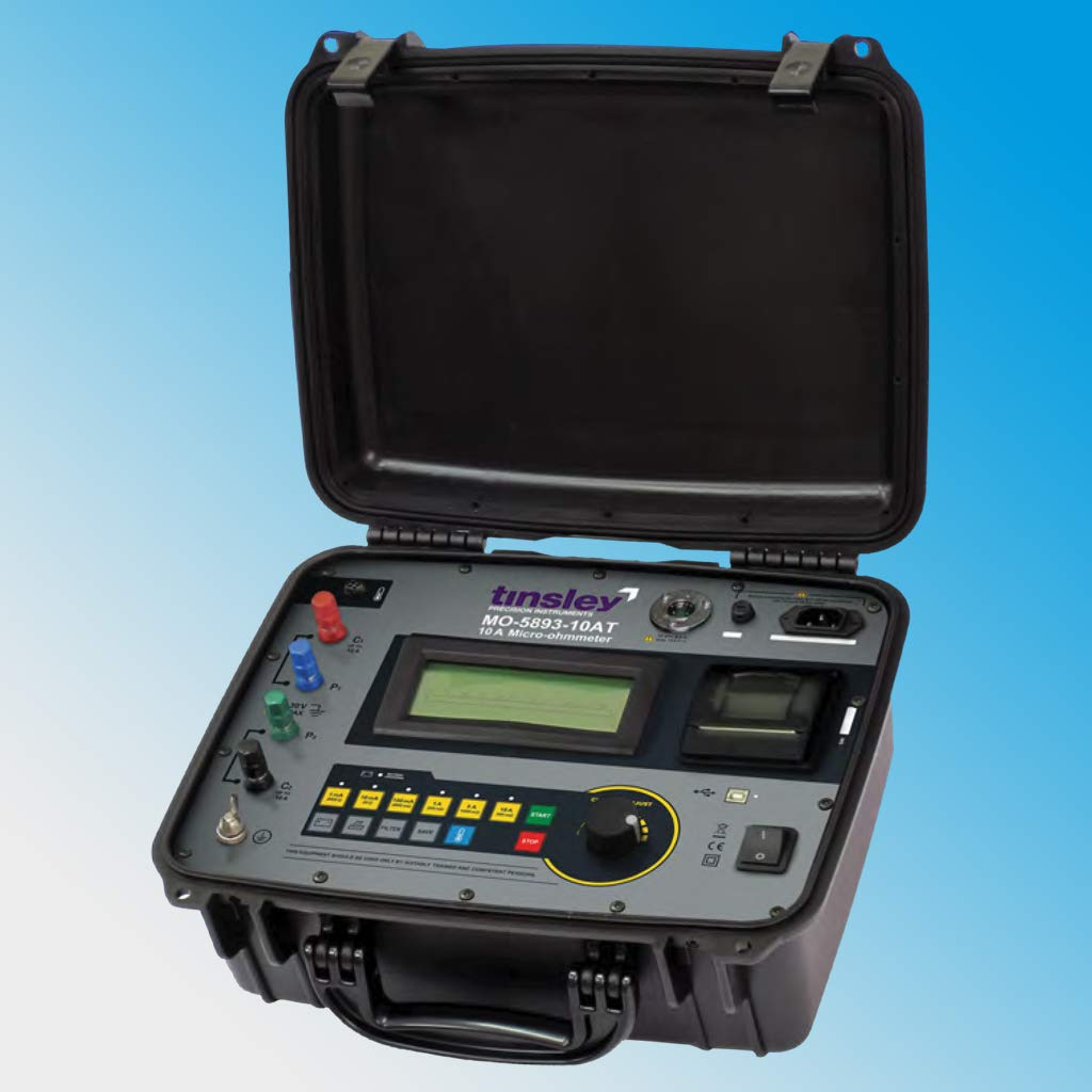 Tinsley MO-5893-10AT Portable Digital Micro-ohmmeter 10 Amp Temperature Comp.