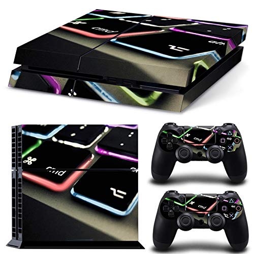 Keyboard PS4 Skin for PlayStation 4 Console and Controllers