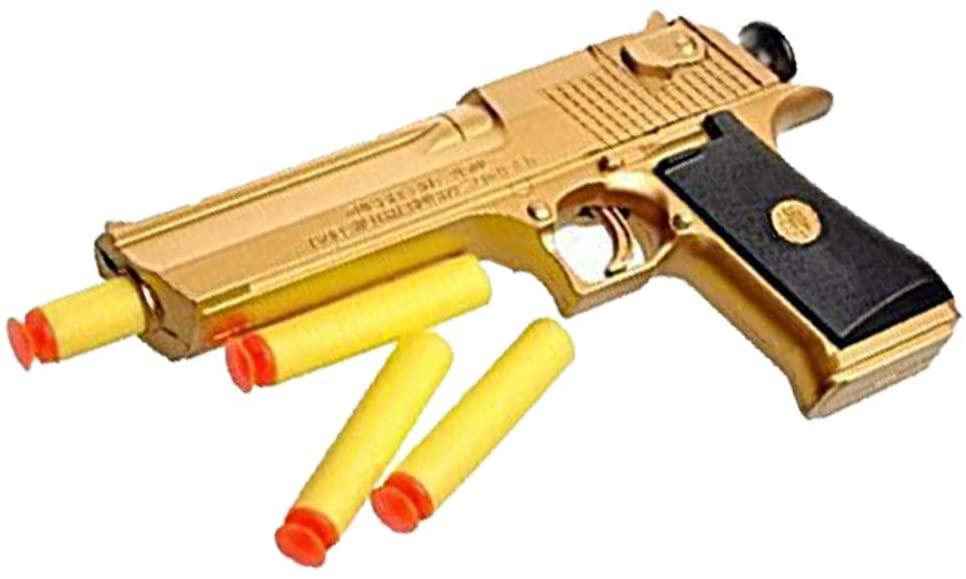 Teanfa Golden Desert Eagle Toy Foam Dart Gun Toys