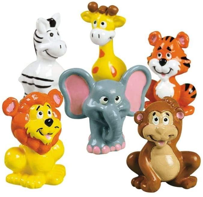 VINYL ZOO ANIMALS - Toys - 12 Pieces