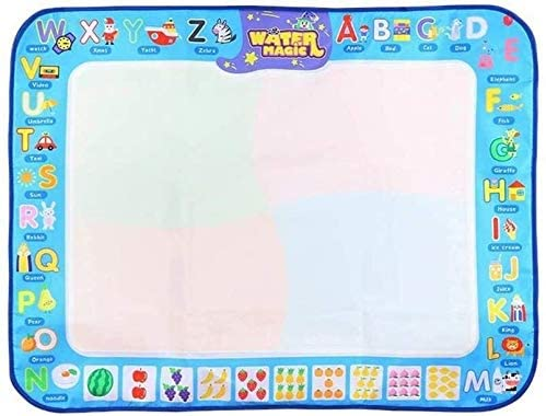 Aoyo Magic Water Drawing Mat with 2 Pens Large Drawing Painting Doodle Pad Kids Early Education Toy (Color : Water Drawing mat, Size : 98x75cm)