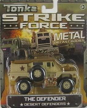 Dubblebla Tonka Strike Force Metal Diecast Bodies. The Defender. Desert Defenders. 1:55 Scale.