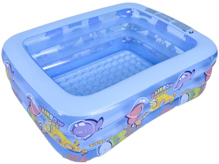 chefensty 3Layer Baby Inflatable Swimming Pool Portable Outdoor Children Kids Square Tub