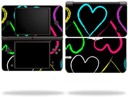 MightySkins Skin Compatible with Nintendo DSi XL wrap Sticker Skins Hearts