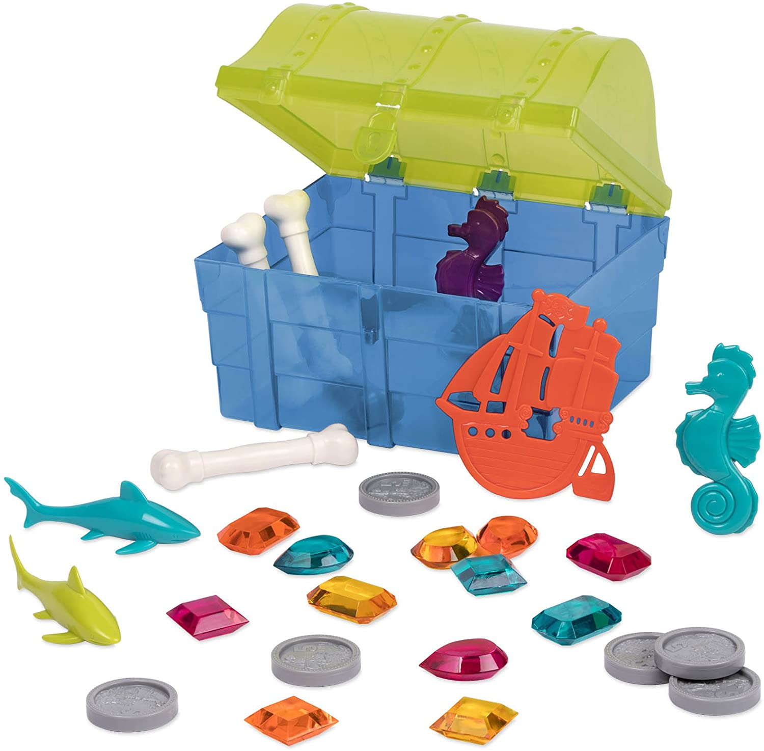 Battat – Pirate Diving Set – Water Toys & Pool Toys Diving Game In A Treasure Toy Box for Kids Age 8+ (28 Pcs)