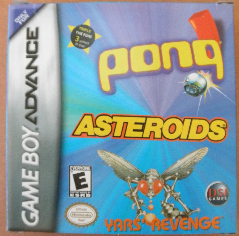 Pong / Asteroids / Yars' Revenge (Nintendo Game Boy Advance) - Rated E