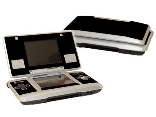 Matte Black Vinyl Decal Faceplate Mod Skin Kit for Nintendo DS (Original) Console by System Skins