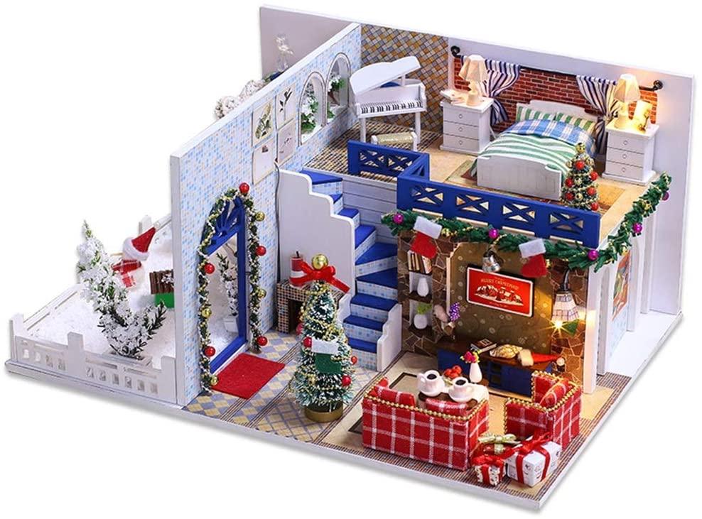 A1 DIY Cabin Cerulean Christmas Houseware Handmade Originative Educational Toys ( Design : Azure Christmas )