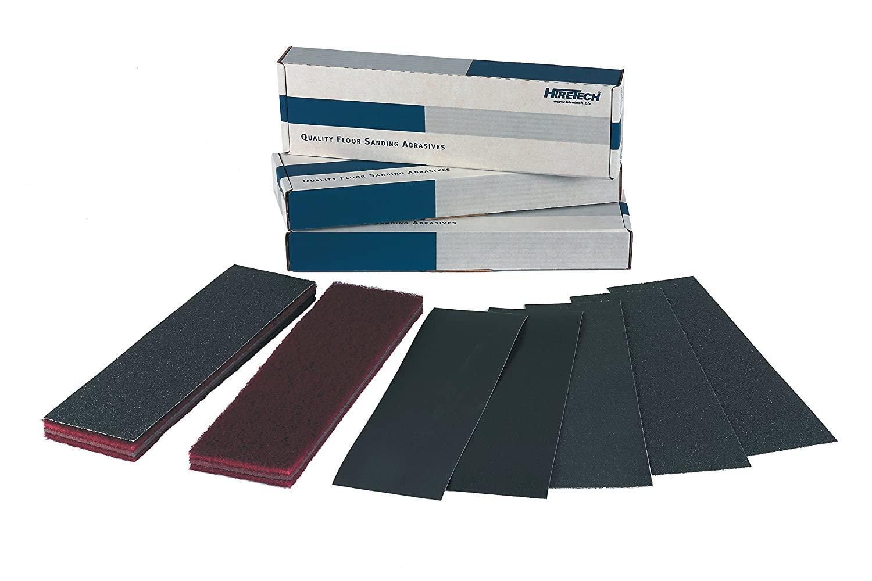 Hiretech 01750 Orbital Floor Sander Sheet, HTF 40G (Pack of 25)