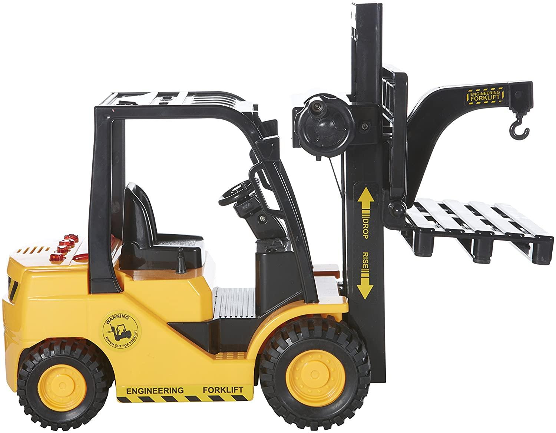 MeeYum Pretend Play Crane Toy Forklift Truck Orange