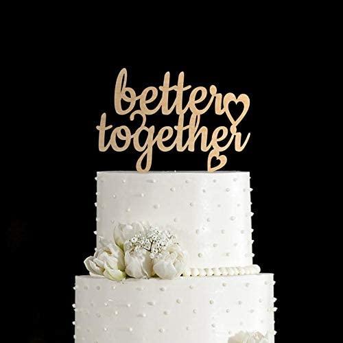 Love Cake topper wedding,anniversary unique wedding cake topper,Better together cake Custom Cake Topper