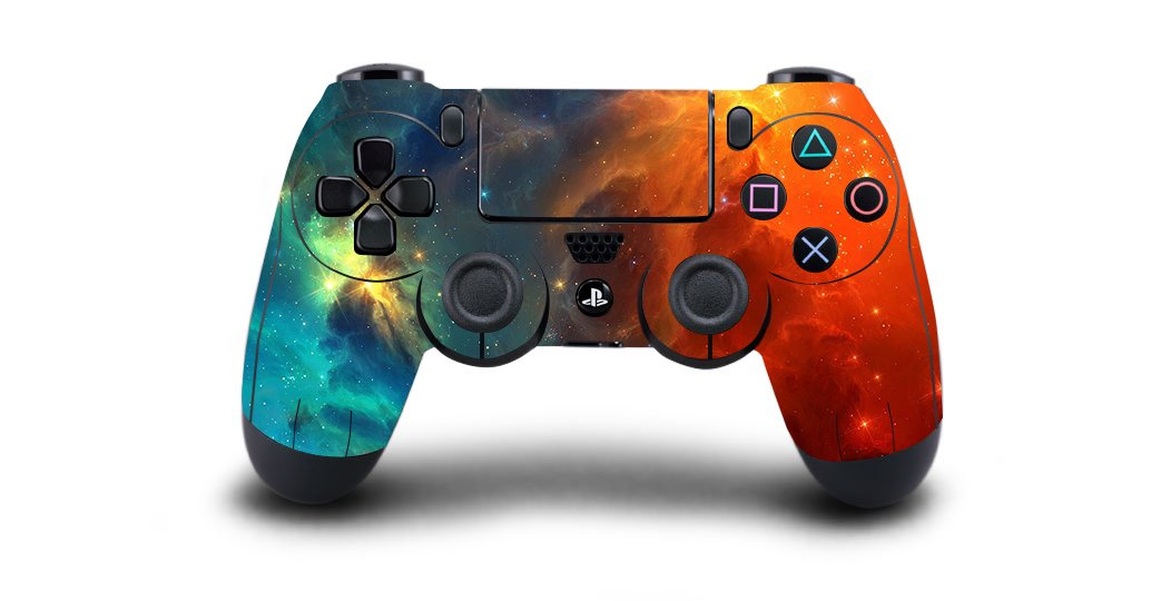 eSeeking Whole Body Vinyl Sticker Decal Cover for PS4 Controller Cosmic Nebular