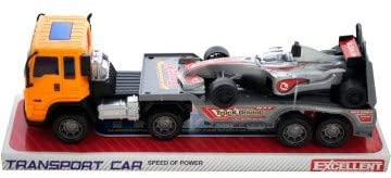 Kole Import Friction Powered Trailer Truck with Race Car