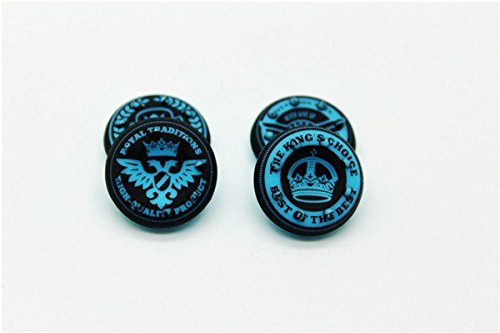 Thumbstick Grips for PS4 XBOX WII U Switch - Caps for all Controllers - Crown Blue