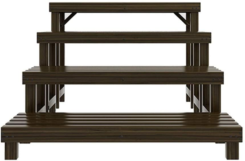 KMMK Plant Stand,Flower Stand Flower Stand, 4 Layers of Wooden Ladder Floor Type Anti-Corrosion Combination Plant Pot Rack, Suitable for: Living Room/Balcony/Outdoor/Garden, 4 Shelf,80Cm
