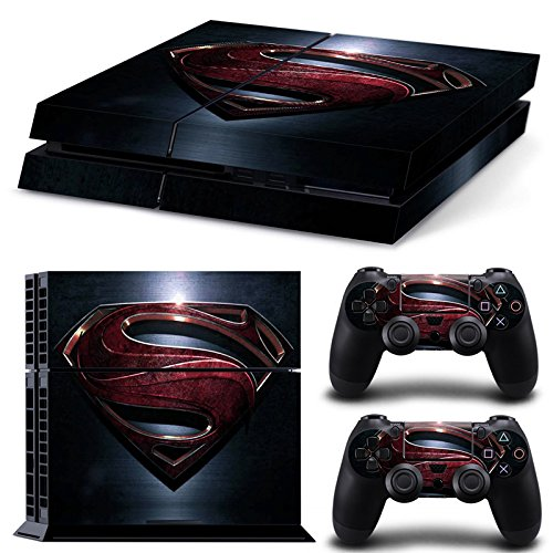 ZoomHit PS4 Playstation 4 Console Skin Decal Sticker Superman + 2 Controller Skins Set