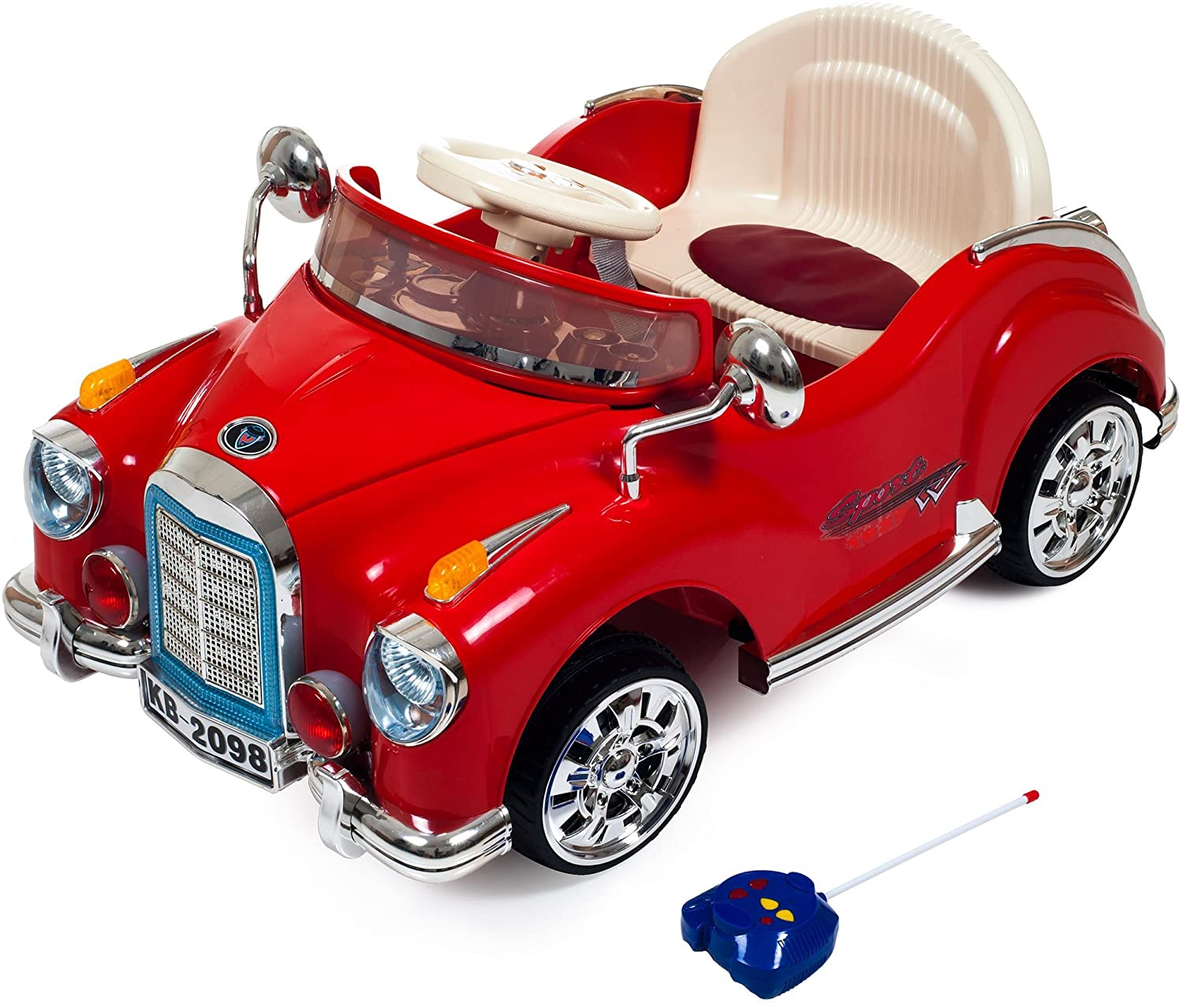 TMG Classic Coupe Battery Operated Car with Remote - Includes 12 Bonus Road Cones!
