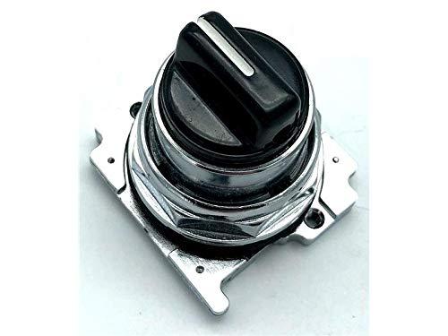 CUTLER HAMMER 10250T1333 30.5MM, 3 Position, Left Center, Spring Return, Black, KNOB, SELECTOR Switch