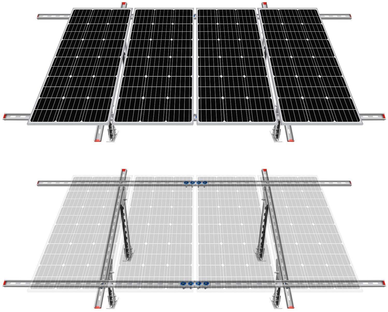 ECO-Worthy Adjustable Multi-Piece Solar Panel Mounting Bracket Kit System for 1-4pcs Solar Panels
