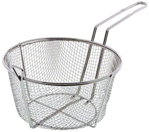 Update International FB-9 Nickel Plated Round Wire Fry Basket, 9-1/2-Inch,Set of 2