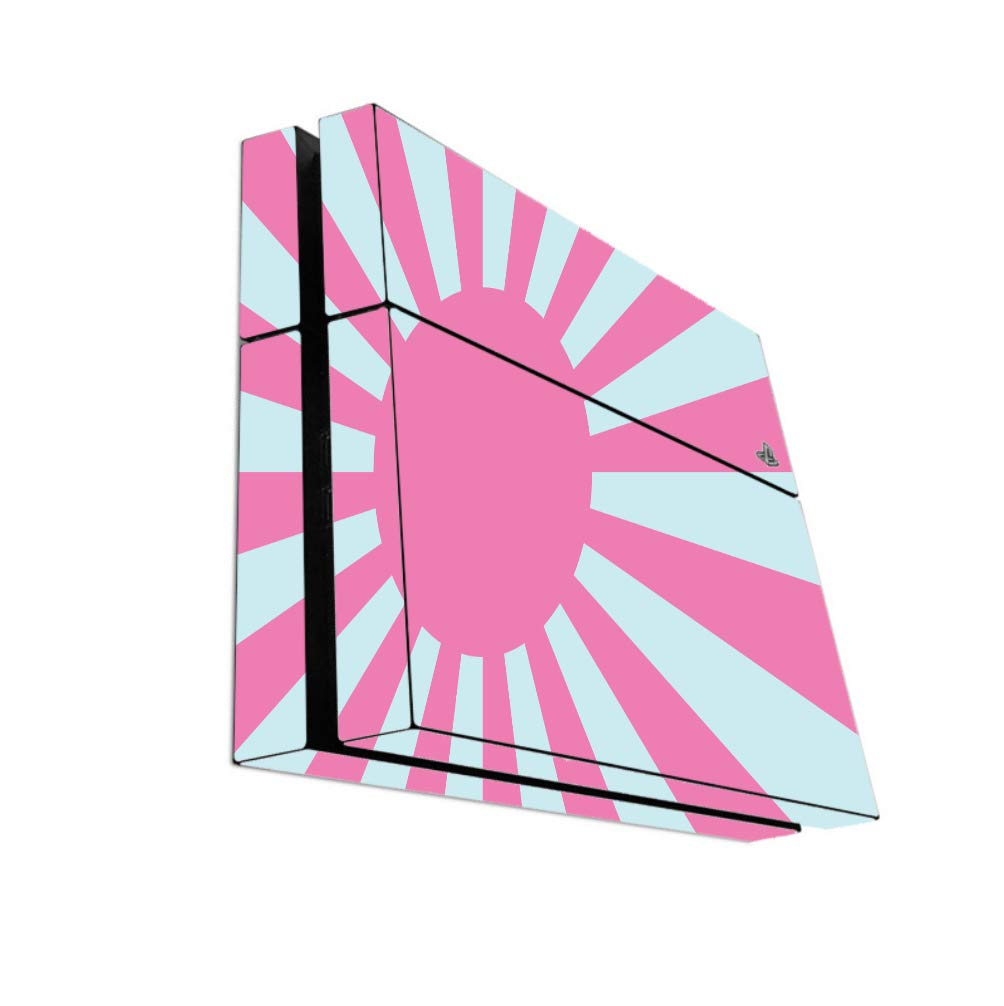 Pink And Teal Sunburst Flag Vinyl Decal Sticker Skin by egeek amz for Playstation 4 PS4 Console