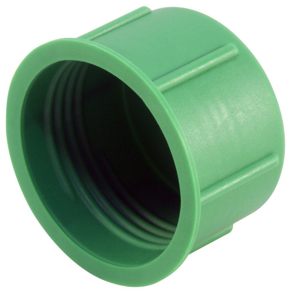 Caplugs 99196251 Threaded Plastic Cap for Metric Fittings, Plastic, to Cap Thread Size M12 x 1.5, CD-M-12X1.5, Green (Pack of 1000)