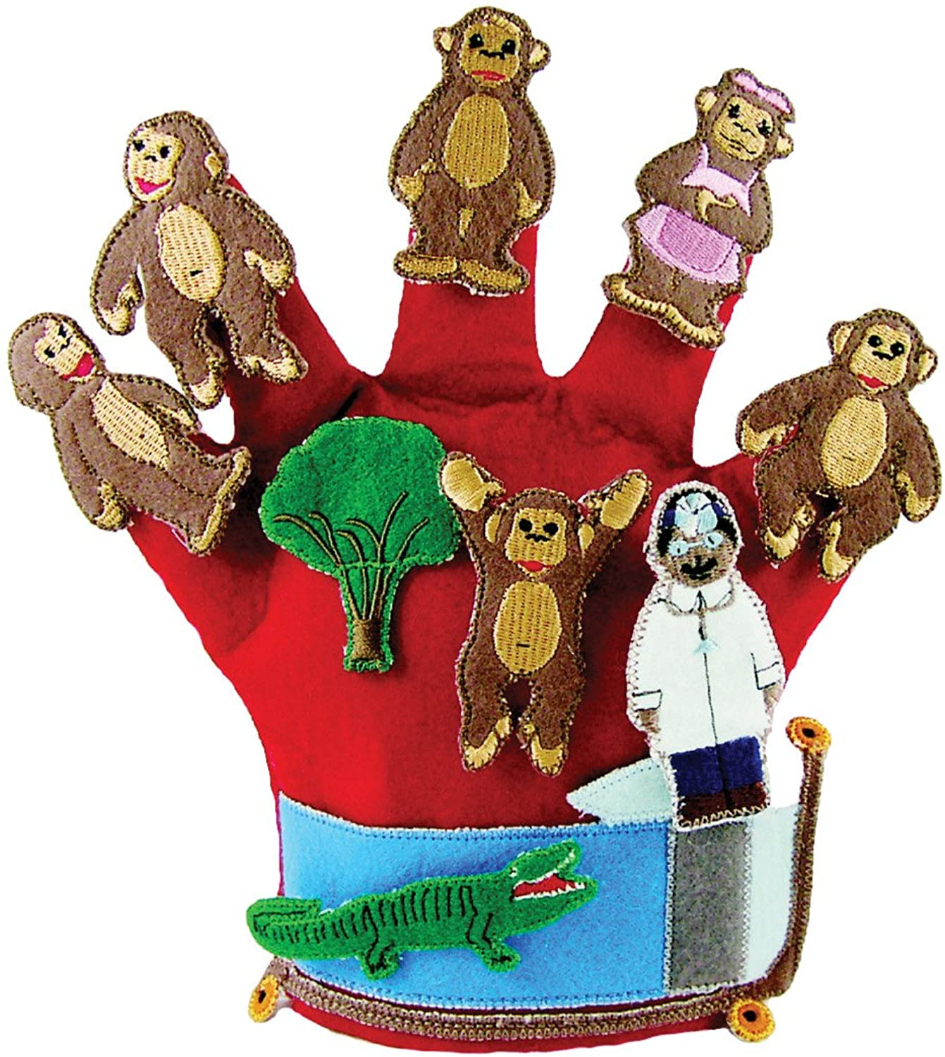 Get Ready Children's Monkeys Jumping on the Bed Glove Puppet/CD
