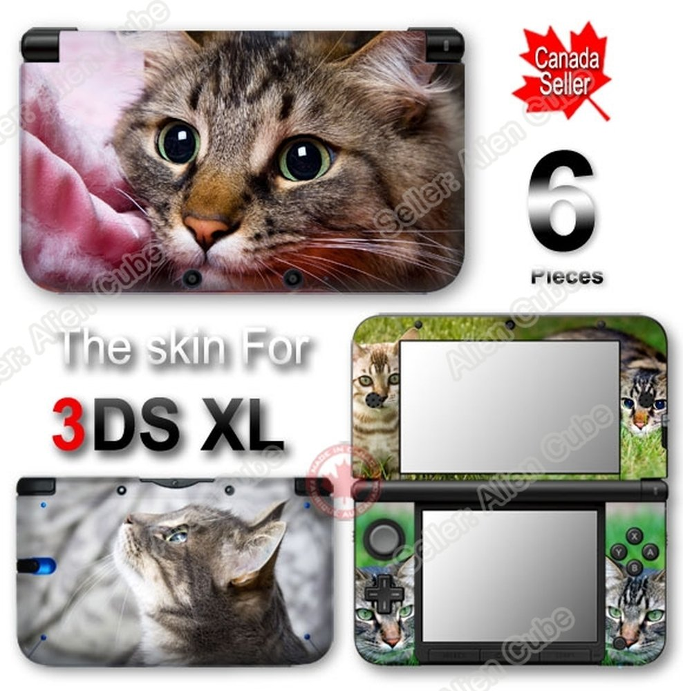 Cat Kitty Cute SKIN VINYL STICKER DECAL COVER #1 for Nintendo 3DS XL
