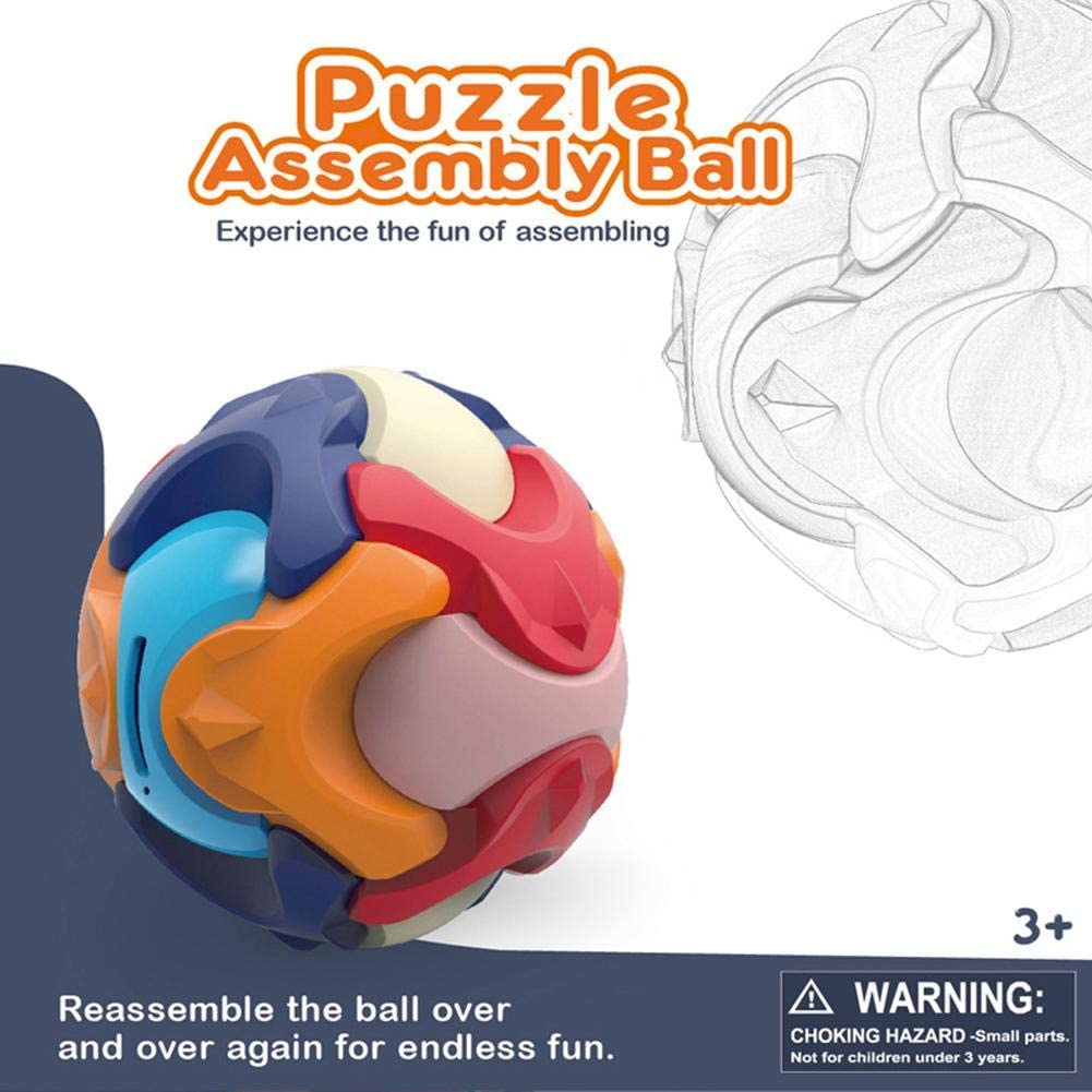 Assembled Toys for Early Education, Puzzle Assembly Ball, Creative Assembly Puzzle Deformation Assembly Toys, Building Block Piggy Bank Toys, Creative Puzzle Assembly Ball Educational Gifts
