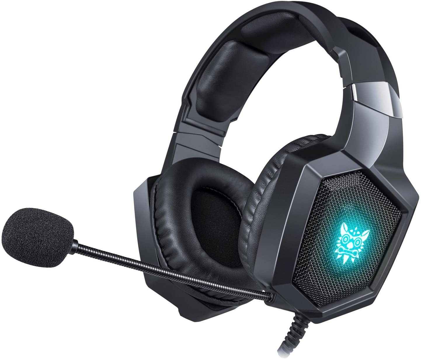 Gaming Headset Xbox One Headset, PS4 Headset with Noise Canceling Mic, PC Headset with LED Light