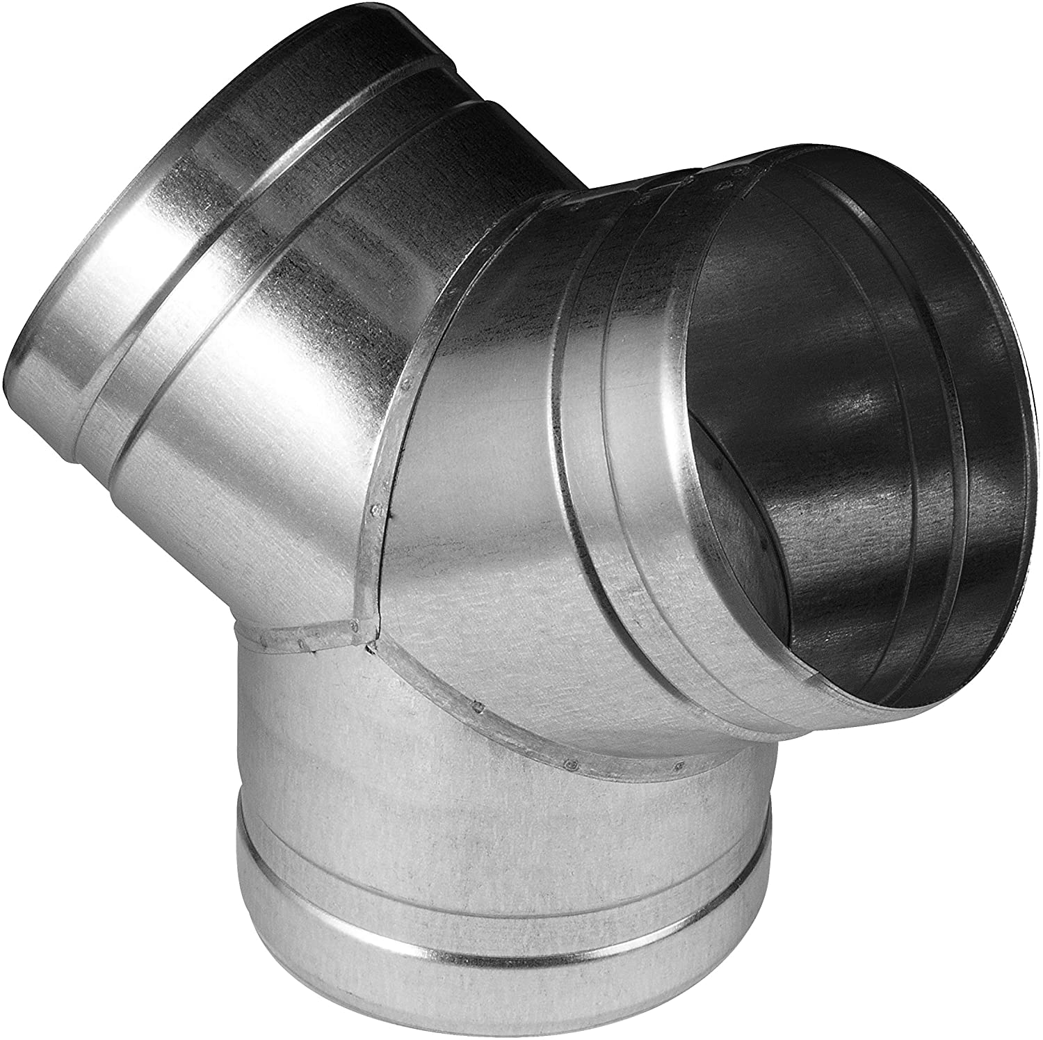 Duct Splitter for Exhaust Fan Dryer Vent Hose 3 Way Duct Hose Connector, T Shape, T Joint Metal (4'' Inch, Y- Shape)