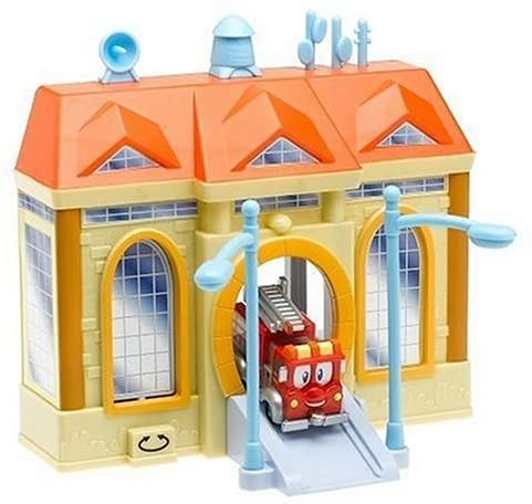 Bandai Firehouse Tales Deluxe Playset w/ 3.5 in. Vehicle: Red w/ Lifts 'n Levers Firehouse