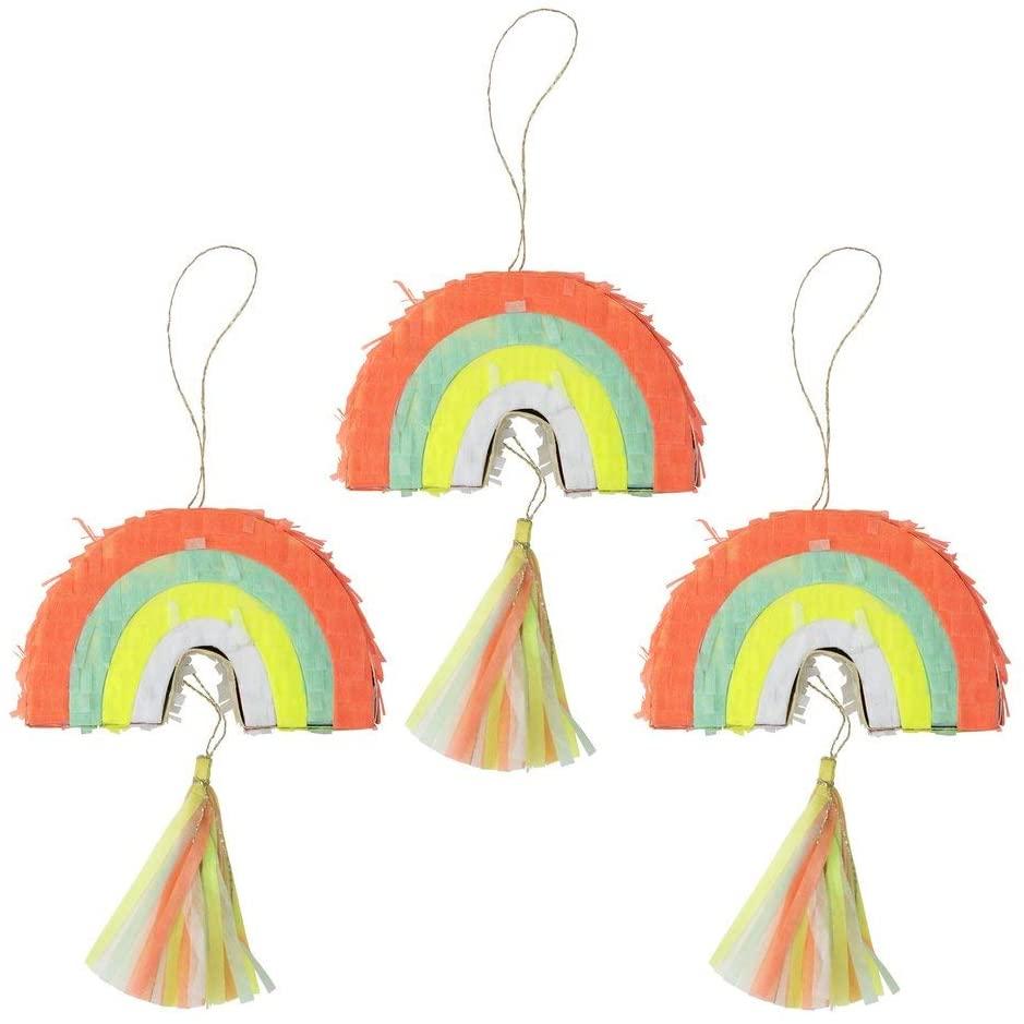 Meri Meri, Rainbow Party Favor Pinatas, Birthday, Party Decorations