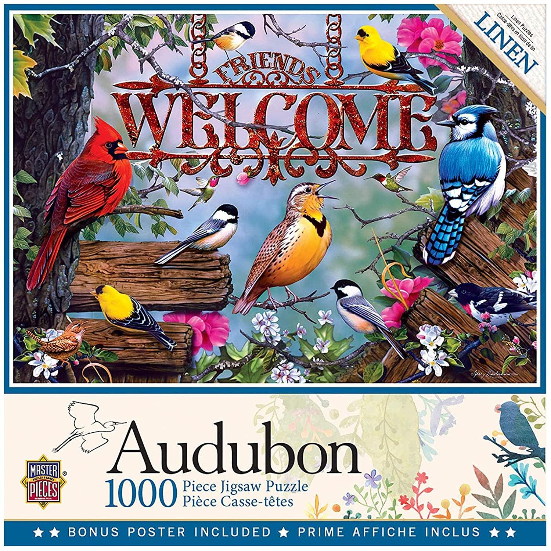 MasterPieces Audubon - Perched 1000-Piece Linen Jigsaw Puzzle